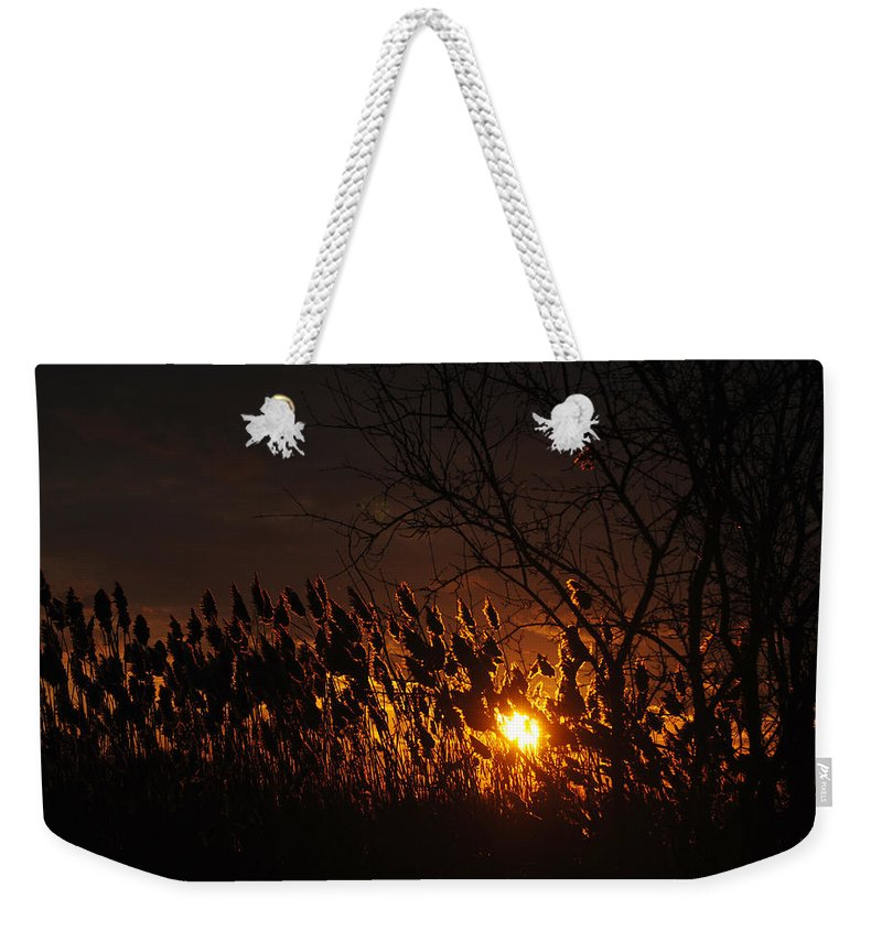 Weekender Tote Bag featuring the photograph 06 Sunset by Michael Frank Jr