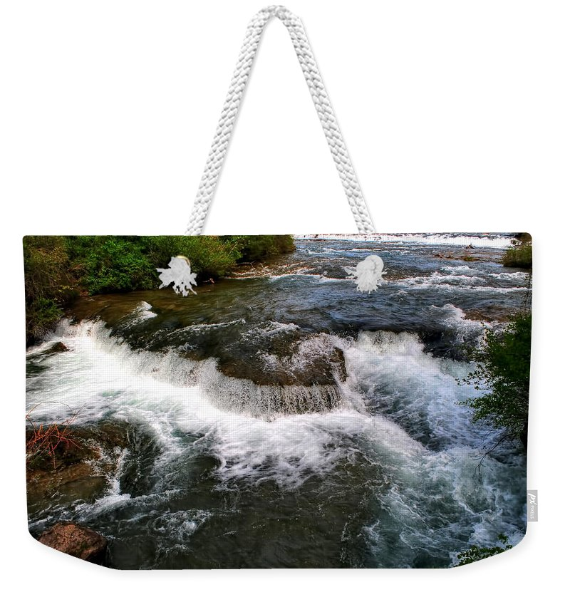 Weekender Tote Bag featuring the photograph 06 To The Three Sisters Island by Michael Frank Jr