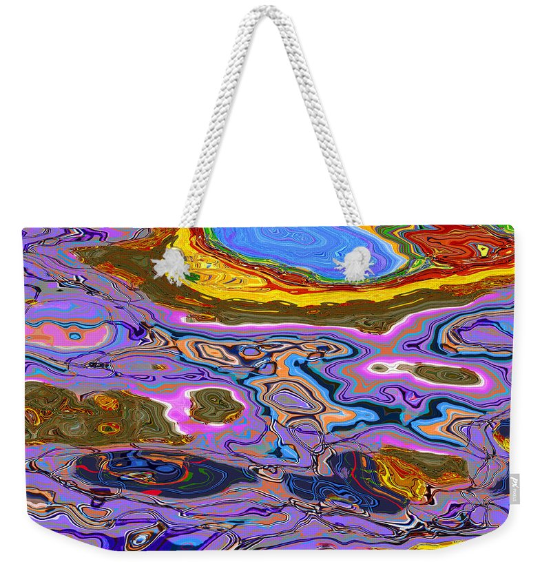 Abstract Weekender Tote Bag featuring the digital art 0620 Abstract Thought by Chowdary V Arikatla