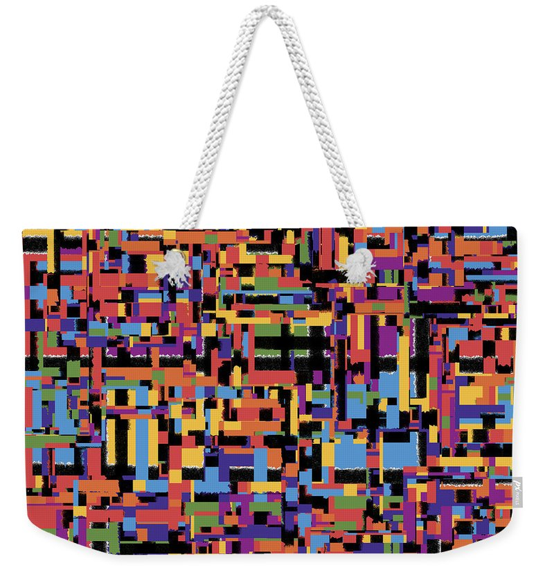 Abstract Weekender Tote Bag featuring the digital art 0649 Abstract Thought by Chowdary V Arikatla