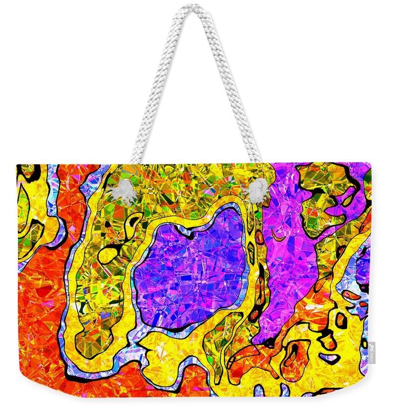 Abstract Weekender Tote Bag featuring the digital art 0673 Abstract Thought by Chowdary V Arikatla