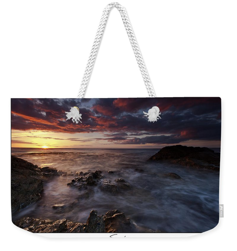 Seascape Weekender Tote Bag featuring the photograph Sunset by Beverly Cash