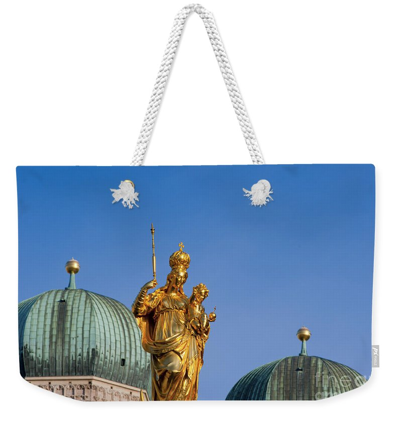 Bavaria Weekender Tote Bag featuring the photograph Towers Of Frauenkirche by Andrew Michael
