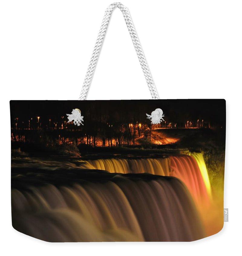 Weekender Tote Bag featuring the photograph 01 Niagara Falls Usa Series by Michael Frank Jr
