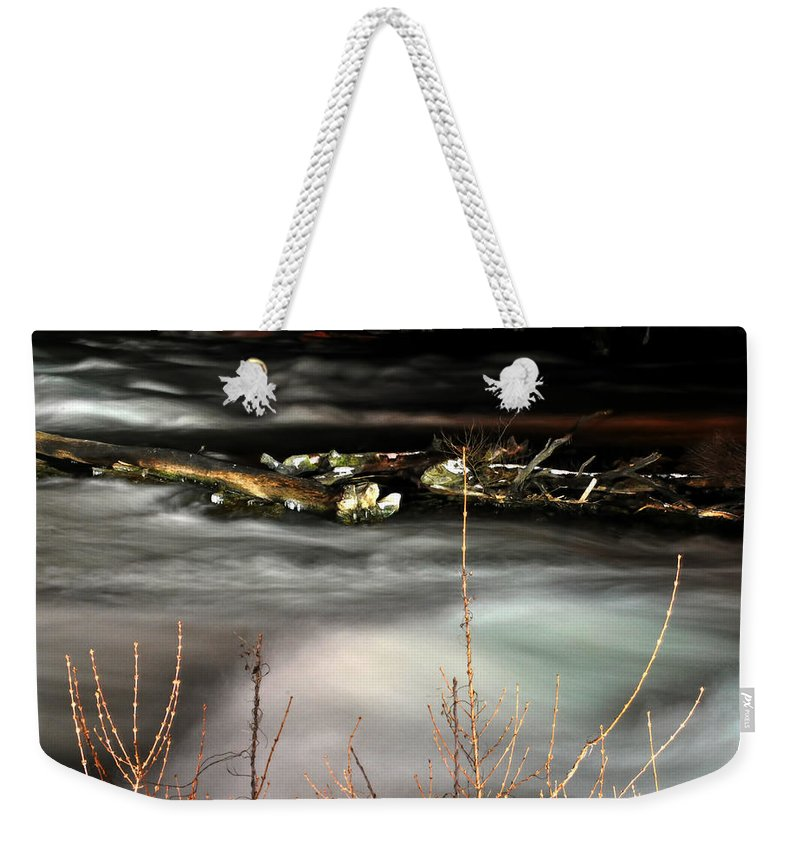 Weekender Tote Bag featuring the photograph 05 Niagara Falls Usa Rapids Series by Michael Frank Jr