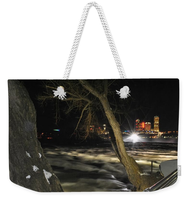 Weekender Tote Bag featuring the photograph 07 Niagara Falls Usa Rapids Series by Michael Frank Jr