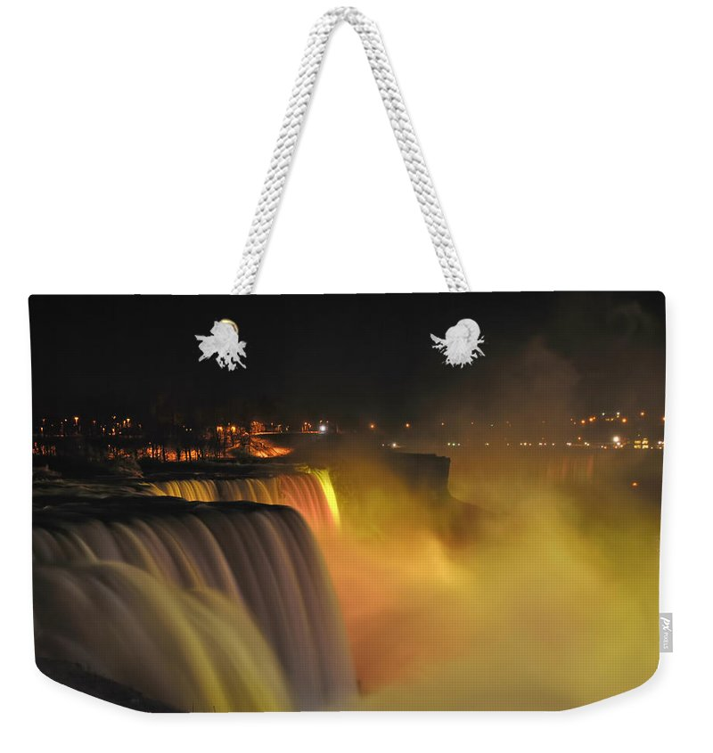 Weekender Tote Bag featuring the photograph 07 Niagara Falls Usa Series by Michael Frank Jr