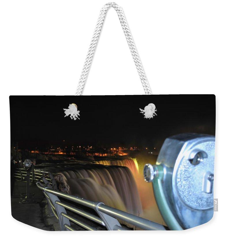 Weekender Tote Bag featuring the photograph 09 Niagara Falls Usa Series by Michael Frank Jr
