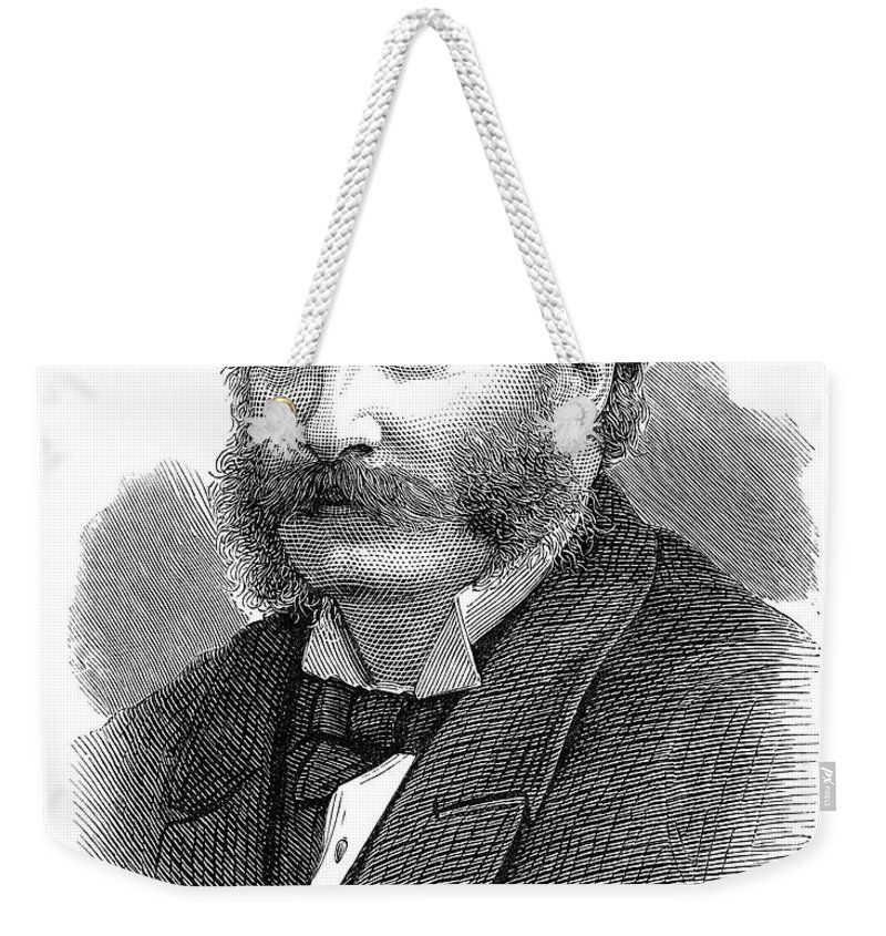 19th Century Weekender Tote Bag featuring the photograph 3rd Baron Rayleigh by Granger