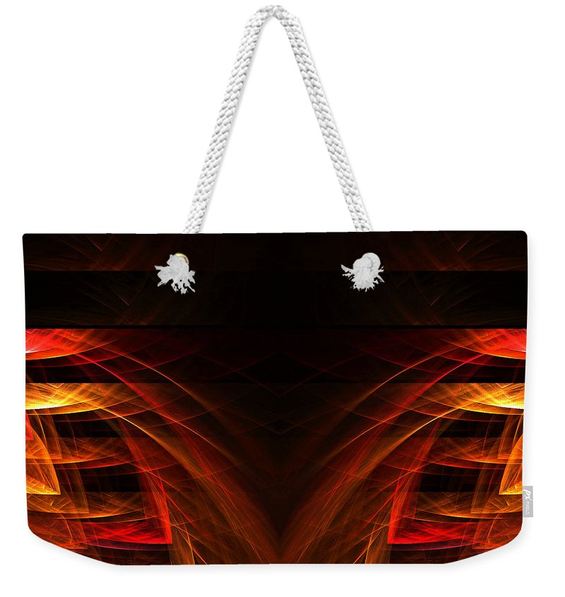 Fractal Digital Art Weekender Tote Bag featuring the photograph Abstract Forty-eight by Mike Nellums