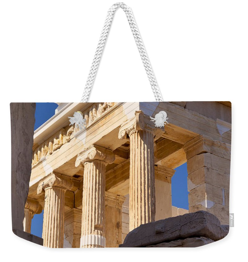 Acropolis Weekender Tote Bag featuring the photograph Acropolis Temple by Brian Jannsen