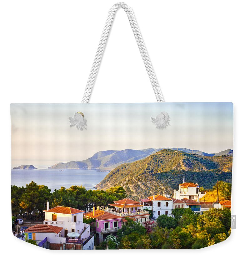 2012 Weekender Tote Bag featuring the photograph Alonissos by Tom Gowanlock