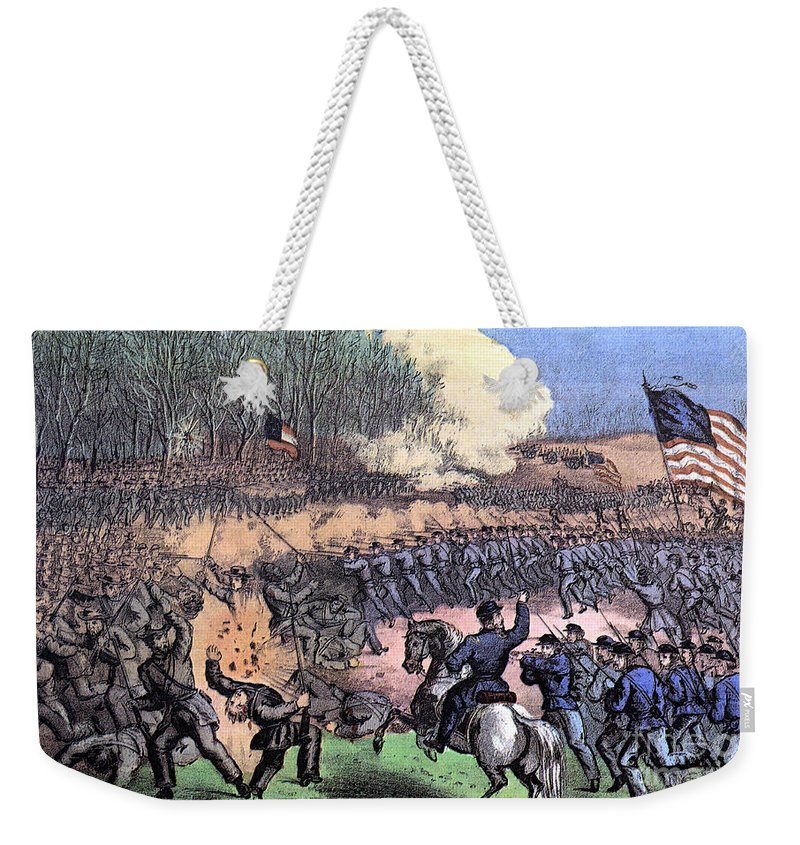 History Weekender Tote Bag featuring the photograph American Civil War, Battle by Photo Researchers