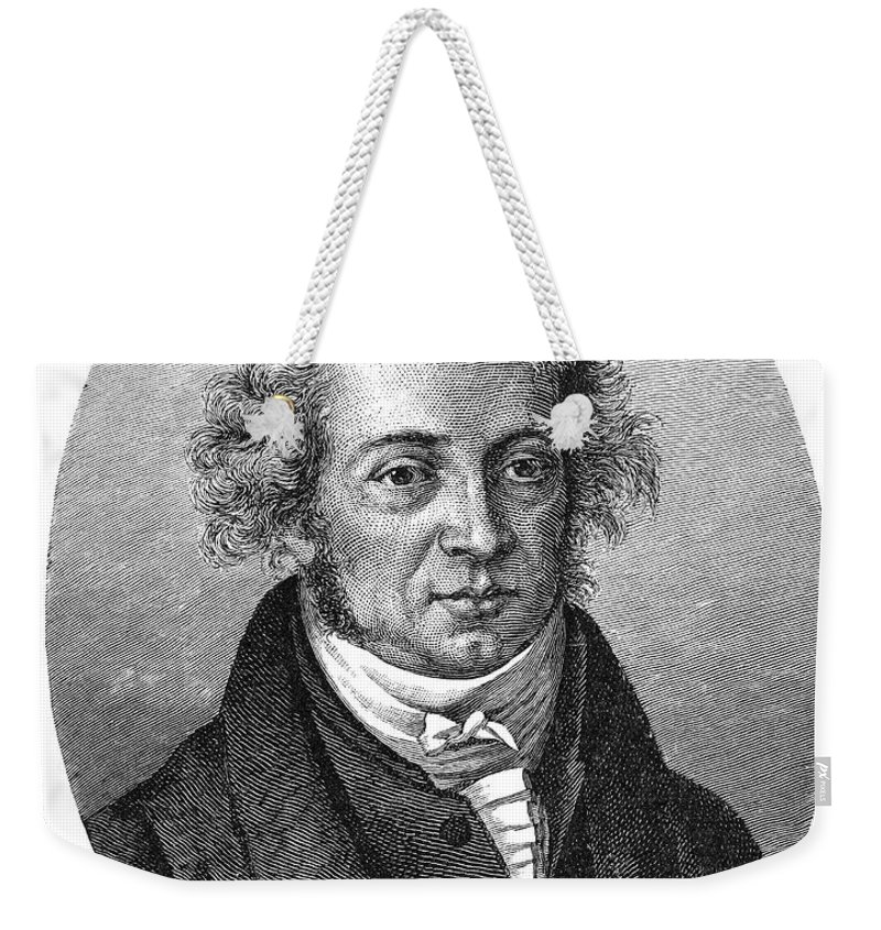 18th Century Weekender Tote Bag featuring the photograph Andre Marie Ampere by Granger