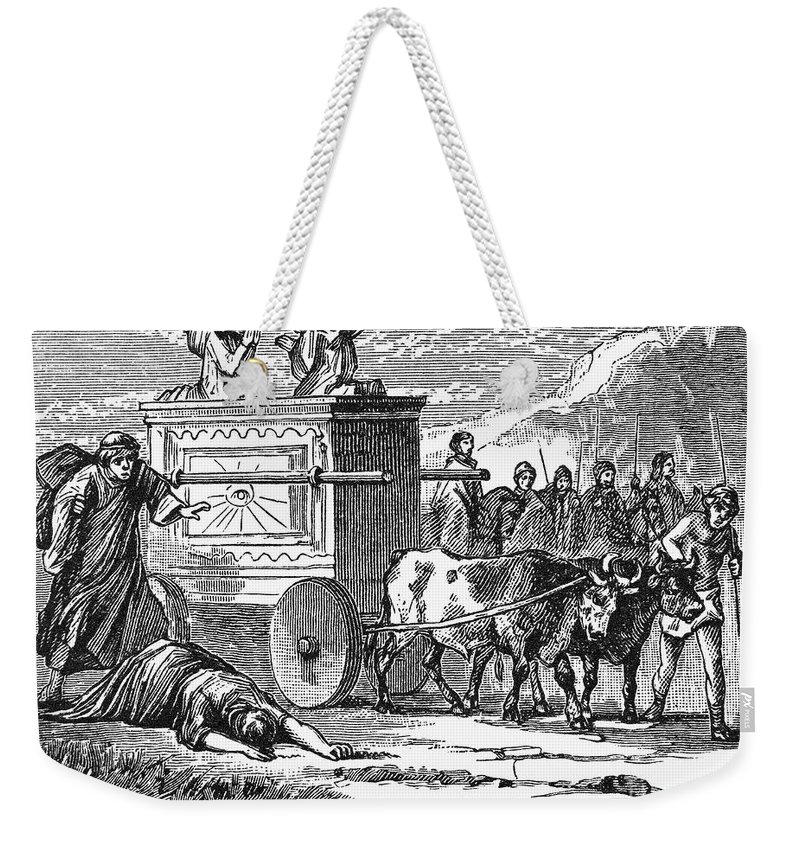 Ancient Weekender Tote Bag featuring the photograph Ark Of Covenant by Granger