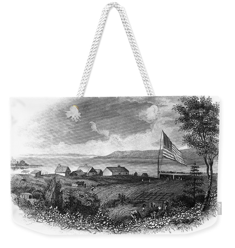 19th Century Weekender Tote Bag featuring the photograph Astoria, Oregon by Granger