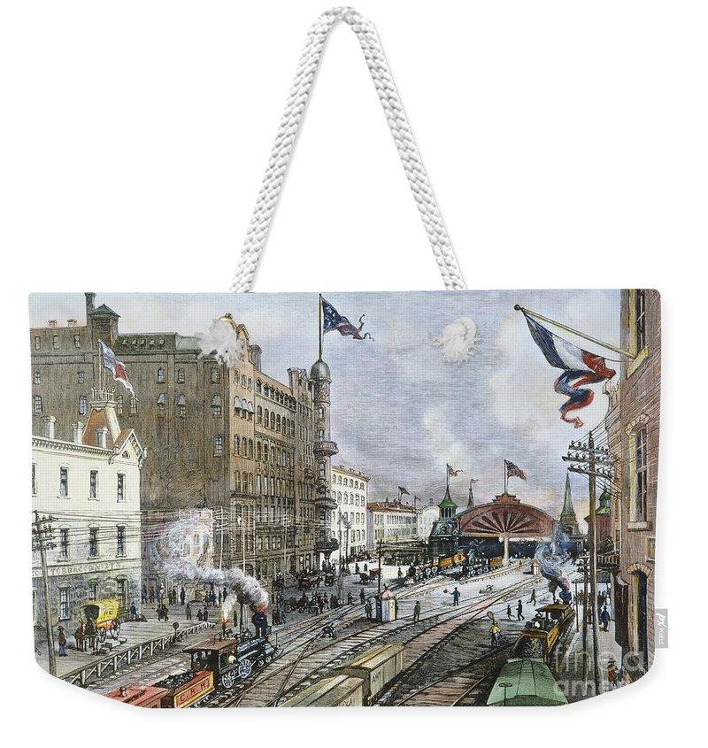 1887 Weekender Tote Bag featuring the photograph Atlanta, Georgia, 1887 by Granger