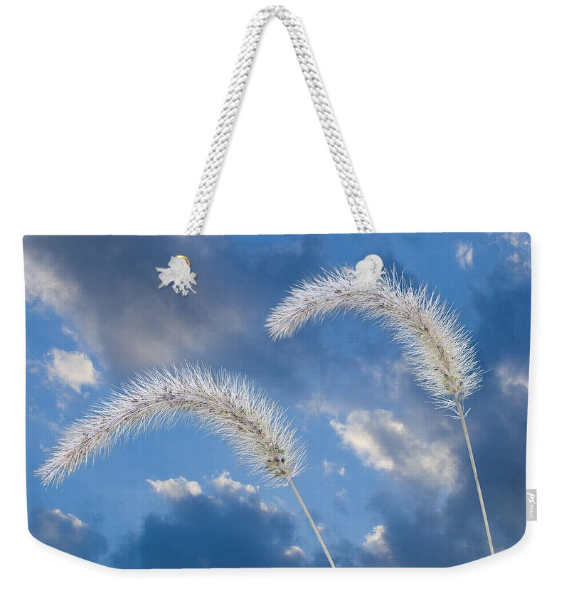 Ron Jones Weekender Tote Bag featuring the photograph Autumn Breeze by Ron Jones