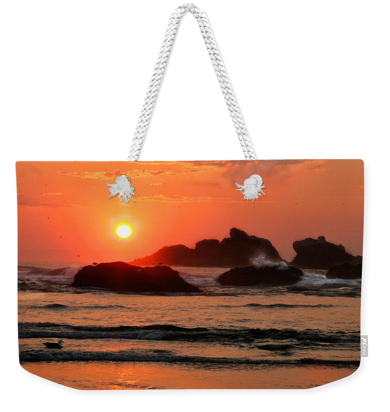 Scenic Weekender Tote Bag featuring the photograph Bandon 1 by Jean Noren