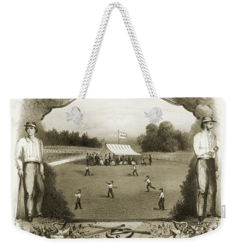 1861 Weekender Tote Bag featuring the photograph Baseball, 1861 by Granger