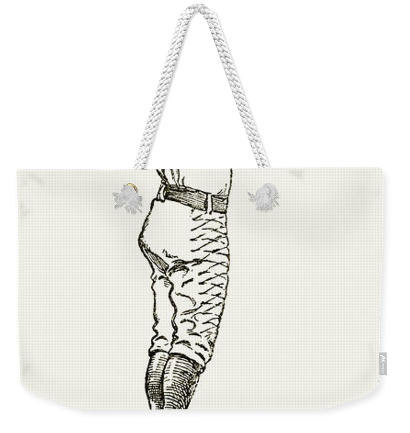 1889 Weekender Tote Bag featuring the photograph Baseball Player, 1889 by Granger