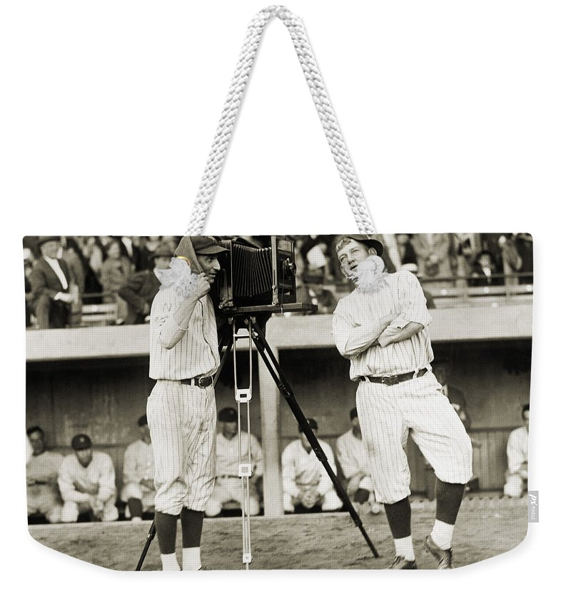 1920s Weekender Tote Bag featuring the photograph Baseball Players, 1920s by Granger