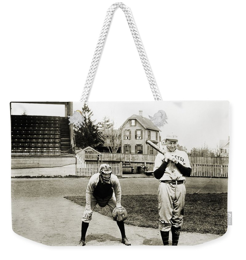 1901 Weekender Tote Bag featuring the photograph Baseball: Princeton, 1901 by Granger