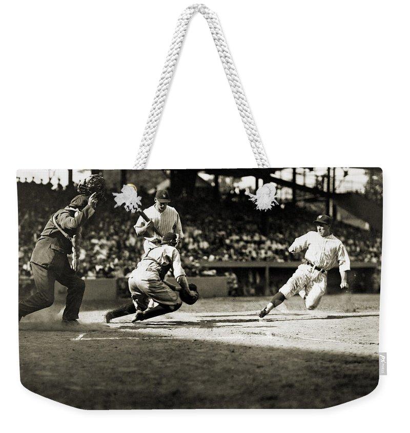 1925 Weekender Tote Bag featuring the photograph Baseball: Washington, 1925 by Granger