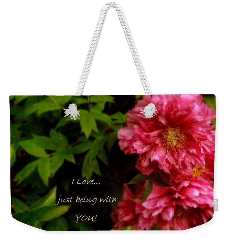 Card Weekender Tote Bag featuring the photograph Being With You by Deborah Crew-Johnson