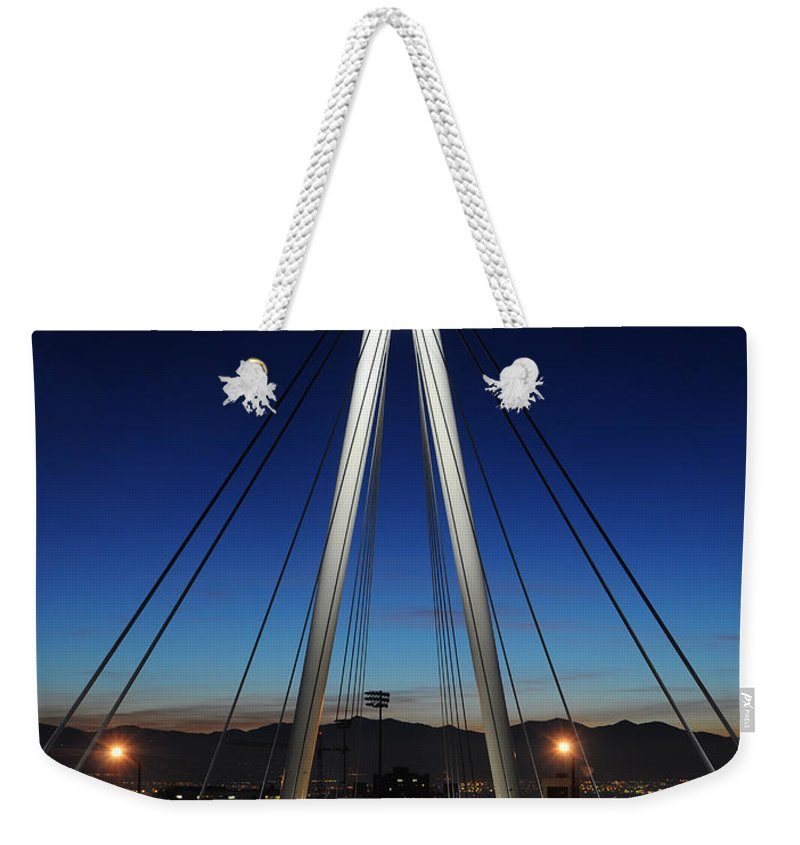 Bridge Weekender Tote Bag featuring the photograph Bridge To Twilight by Gary Whitton