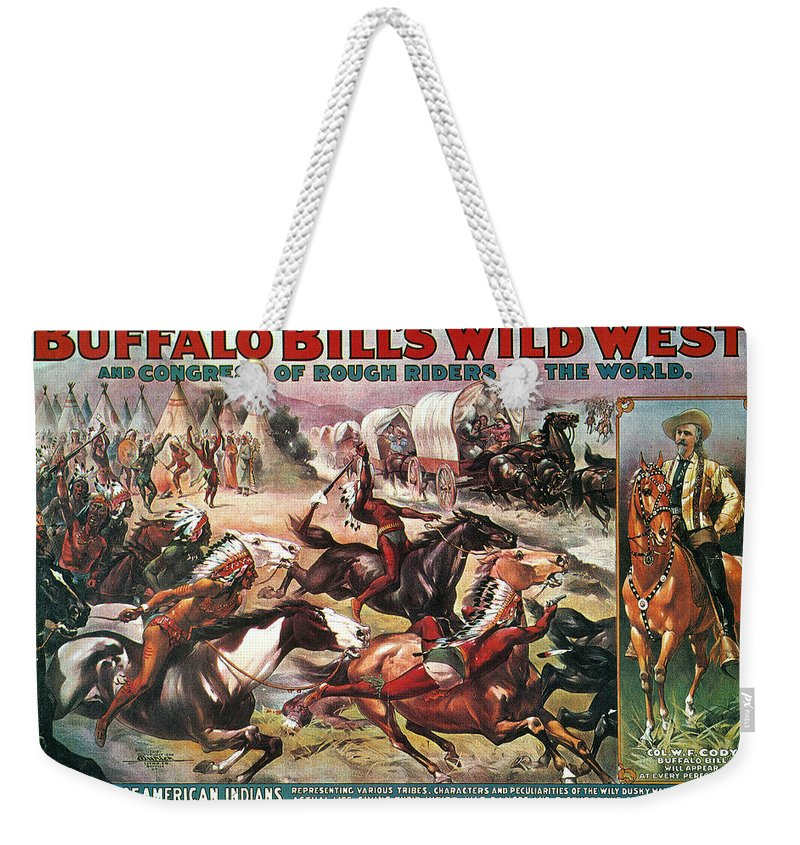 1890s Weekender Tote Bag featuring the photograph Buffalo Bills Show by Granger