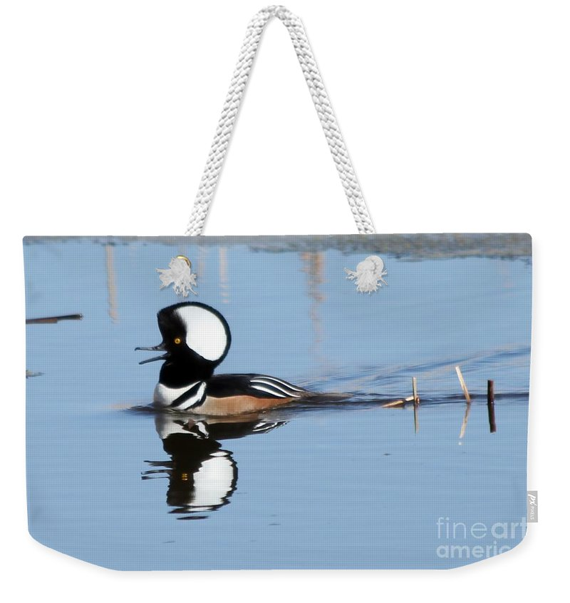 Hodded Weekender Tote Bag featuring the photograph Call Of The Wild by Lori Tordsen