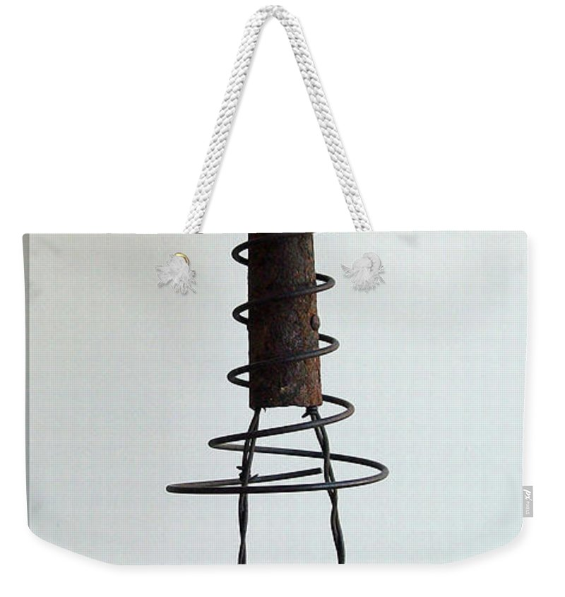 Sculpture Weekender Tote Bag featuring the sculpture Celebration by Snake Jagger
