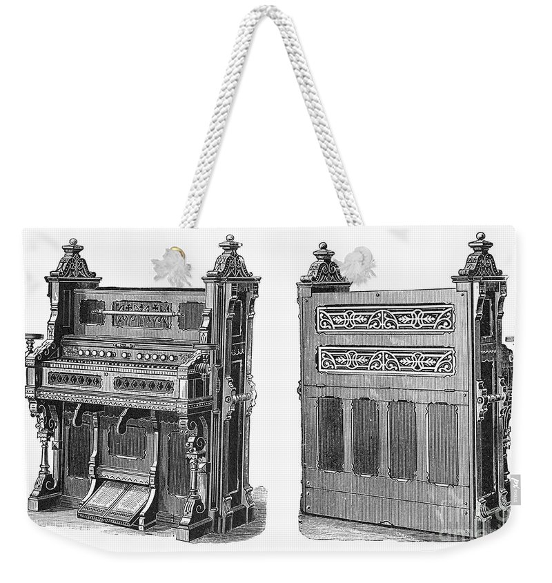 19th Century Weekender Tote Bag featuring the photograph Chapel Organ, 19th Century by Granger