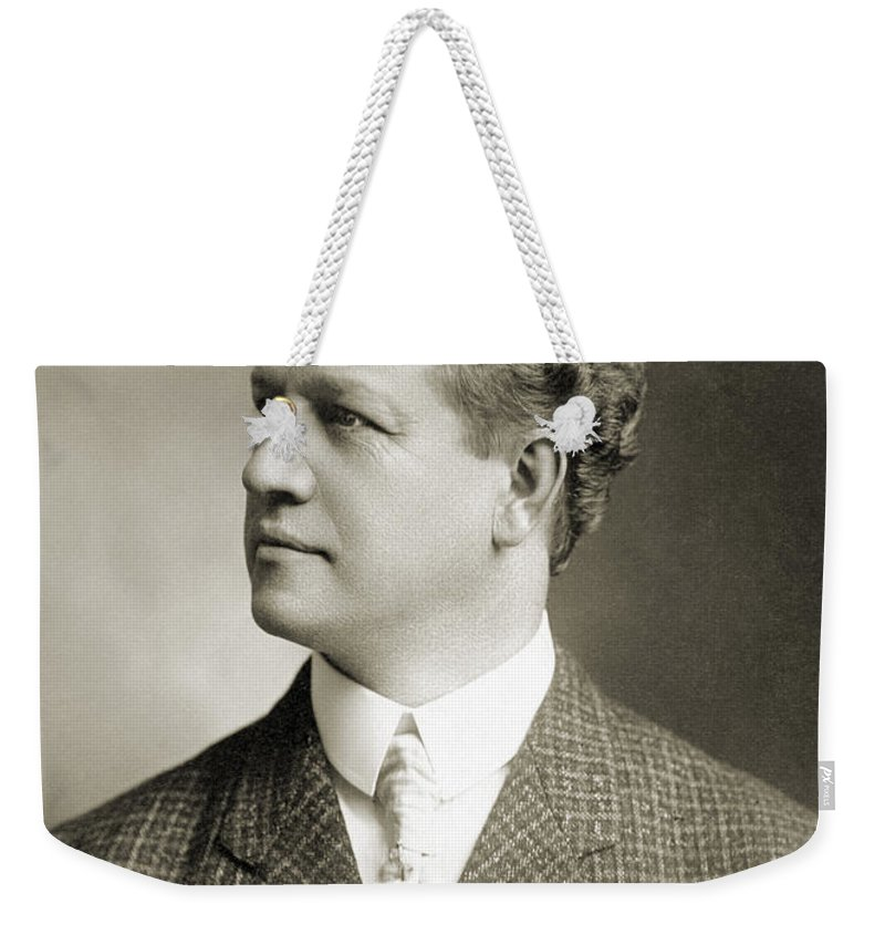 1900 Weekender Tote Bag featuring the photograph Charles H. Ebbets (1859-1925) by Granger