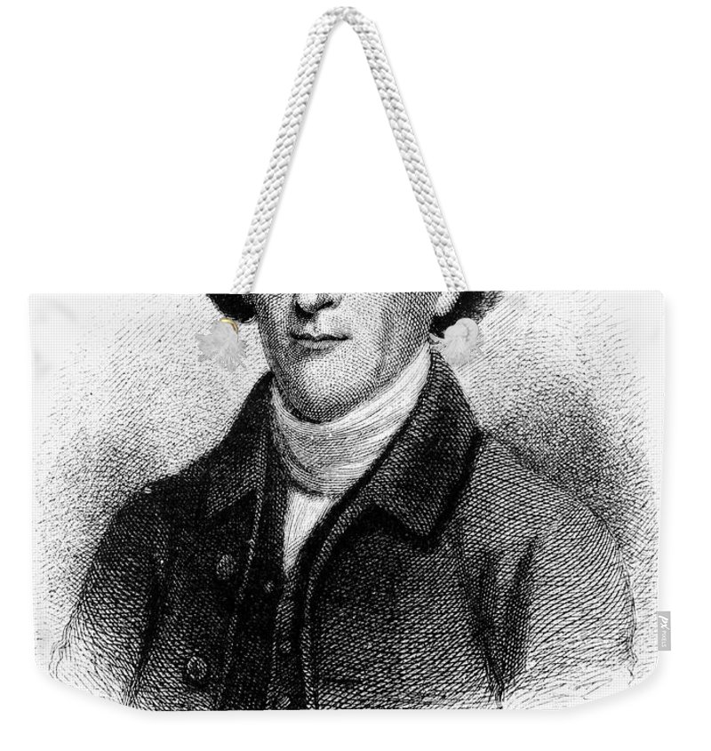 18th Century Weekender Tote Bag featuring the photograph Charles Thomson (1729-1824) by Granger