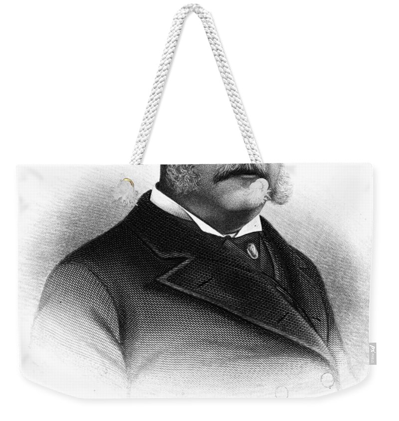 19th Century Weekender Tote Bag featuring the photograph Chester Alan Arthur by Granger