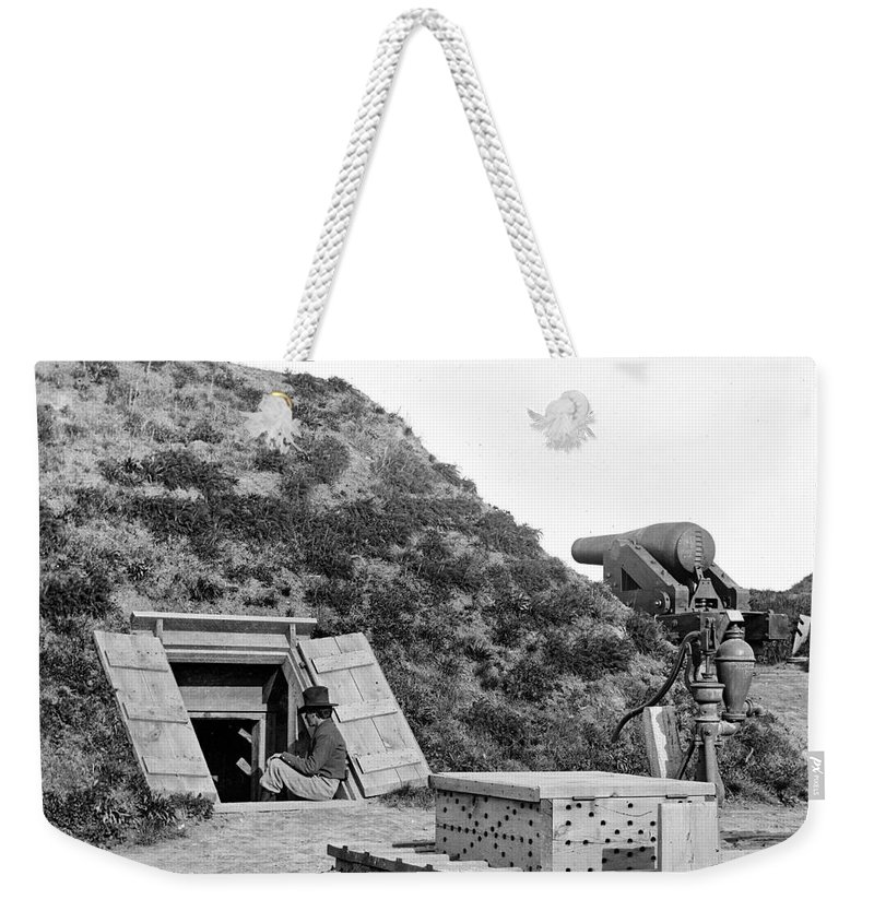 1865 Weekender Tote Bag featuring the photograph Civil War: Drewrys Bluff by Granger
