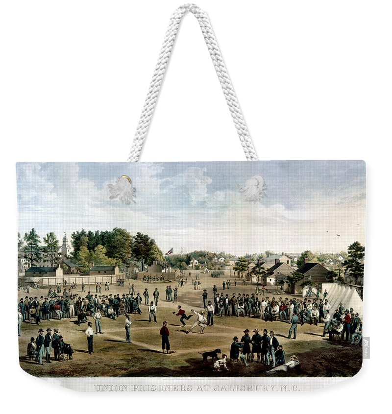 1863 Weekender Tote Bag featuring the photograph Civil War: Union Prisoners by Granger
