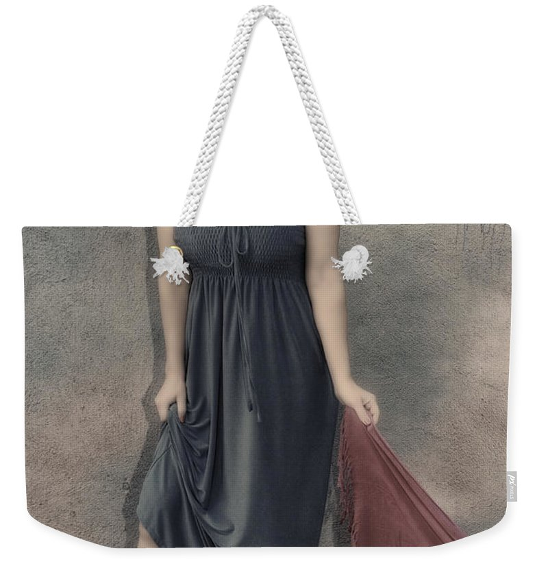Woman Weekender Tote Bag featuring the photograph Concrete Velvet 3 by Donna Blackhall