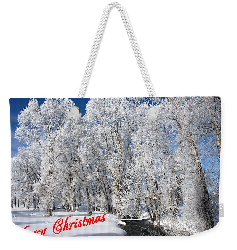 Christmas Weekender Tote Bag featuring the photograph Country Christmas 1 by DeeLon Merritt