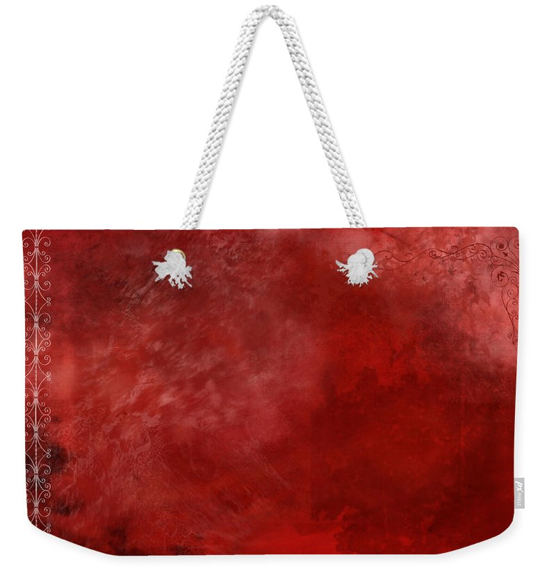 Crimson Weekender Tote Bag featuring the painting Crimson China by Christopher Gaston