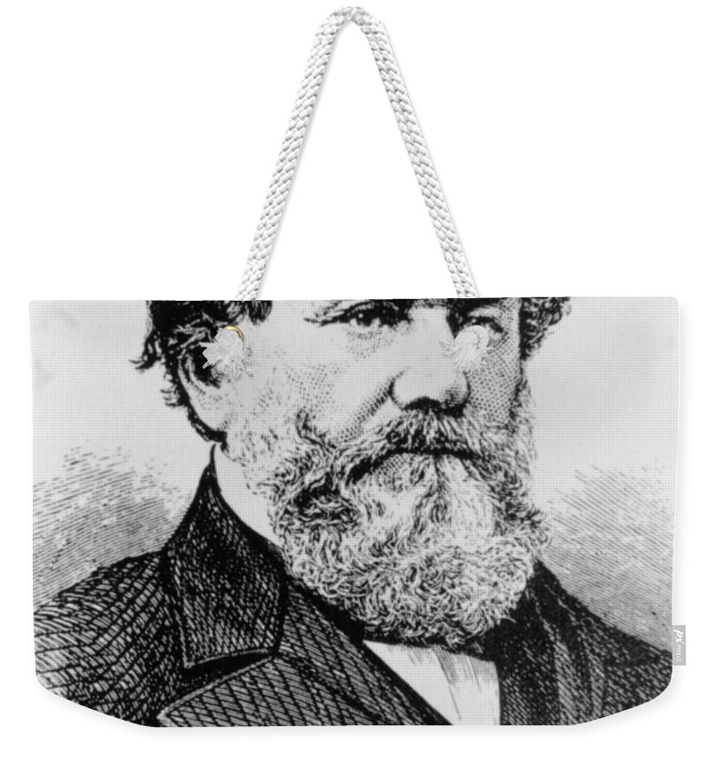 History Weekender Tote Bag featuring the photograph Cyrus Mccormick, American Inventor by Photo Researchers