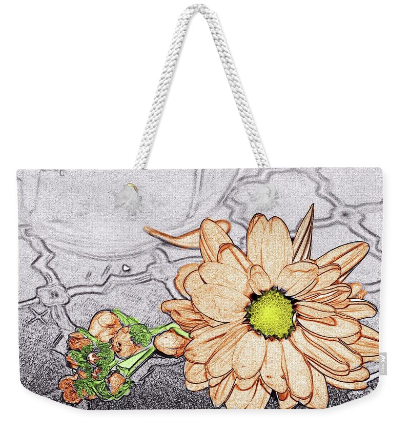 Daisy Weekender Tote Bag featuring the photograph Daisy by Bonnie Willis