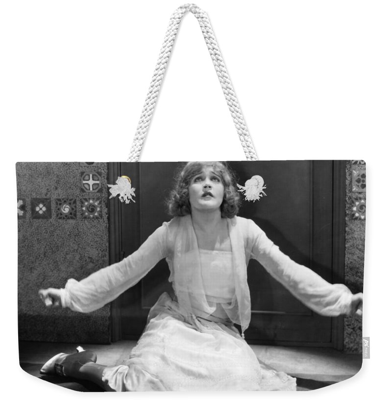 -damsel In Distress- Weekender Tote Bag featuring the photograph Damsel In Distress by Granger