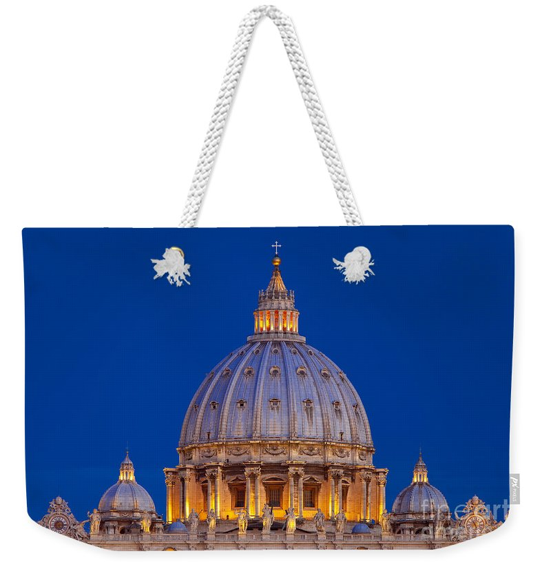Basilica San Pietro Weekender Tote Bag featuring the photograph Dome San Pietro by Brian Jannsen