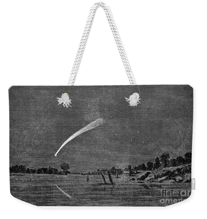 1858 Weekender Tote Bag featuring the photograph Donatis Comet, 1858 by Granger