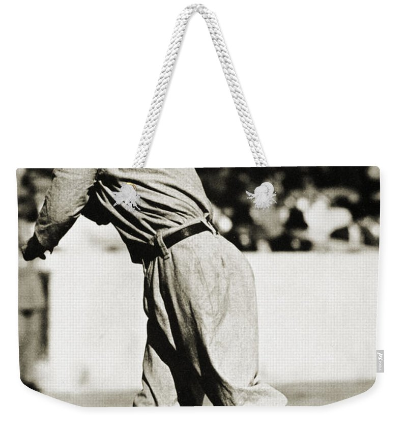 20th Century Weekender Tote Bag featuring the photograph Eddie Plank (1875-1926) by Granger