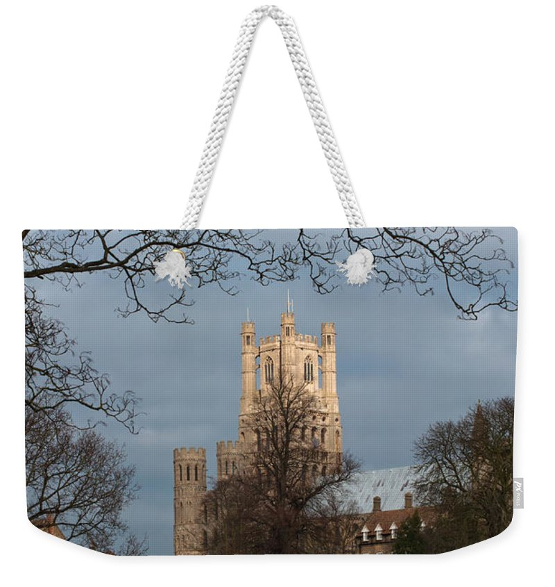 Ely Weekender Tote Bag featuring the photograph Ely Cathedral In City Of Ely by Andrew Michael
