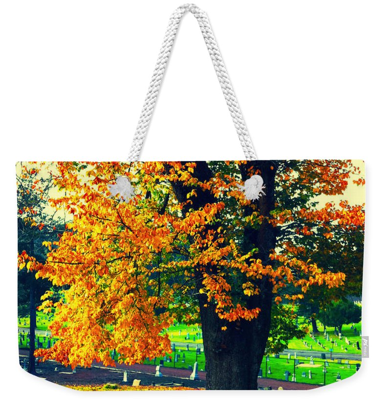 Autumn Weekender Tote Bag featuring the photograph Fall by Priscilla De Mesa